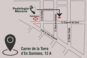 Mapa Podologia Morera