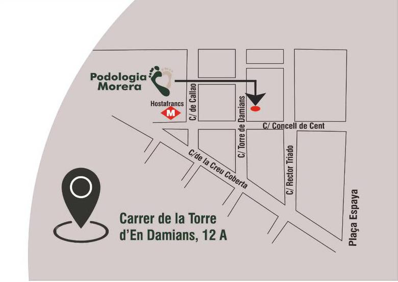 Mapa Podoglogía a Barcelona